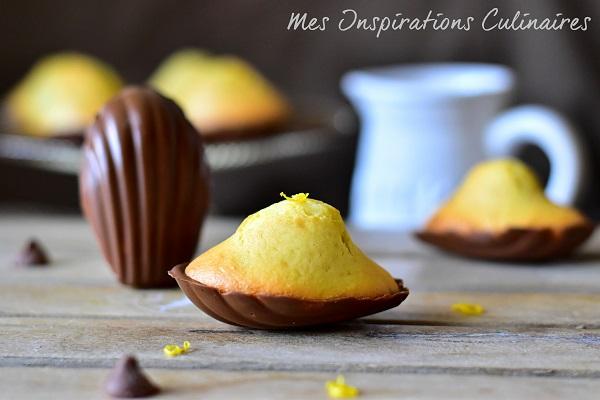 Madeleines au citron vert et au miel